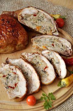 ćwiartki kurczaka faszerowane mięsem mielonym i papryką