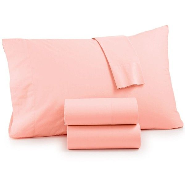 Whim by Martha Stewart Collection Vintage Wash 4-Pc. Queen Sheet Set,... ($120) ❤ liked on Polyvore featuring home, bed & bath, bedding, bed sheets, blush, cotton bed sheet set, cotton sheet sets, cotton bedding, blush bedding and cotton queen sheet set