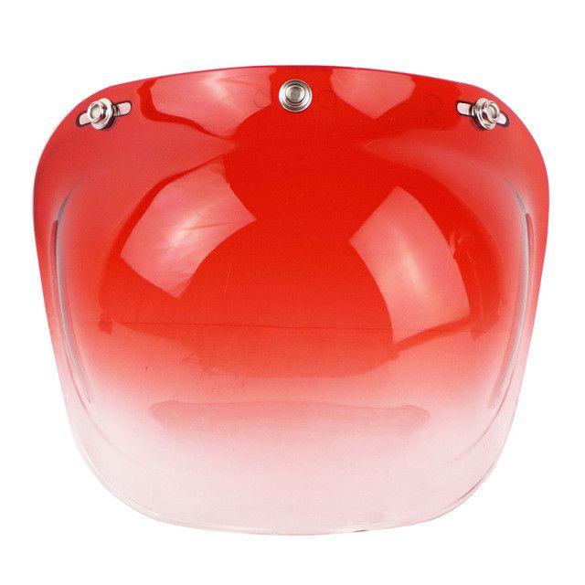 New viseira bolha Motorcycle Sports Helmet Visor Shield lens for 3/4 Motorcycle 3-snap Bubble visor Helmet lens windshield