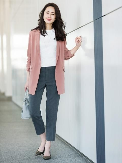 Add a stylish flare to your work wardrobe with our Drape Long Jacket.