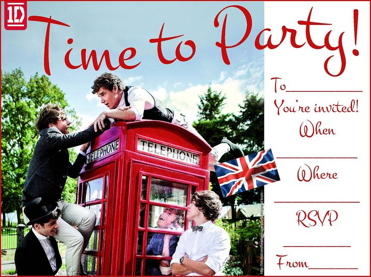179 best images about one direction party on pinterest | vip, Printable invitations