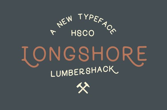 Longshore - Hand Drawn Font by Hustle Supply Co. on Creative Market