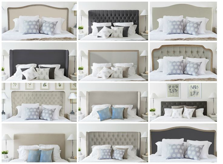 Luxury linen bedheads from www.lavenderhillinteriors.com.au