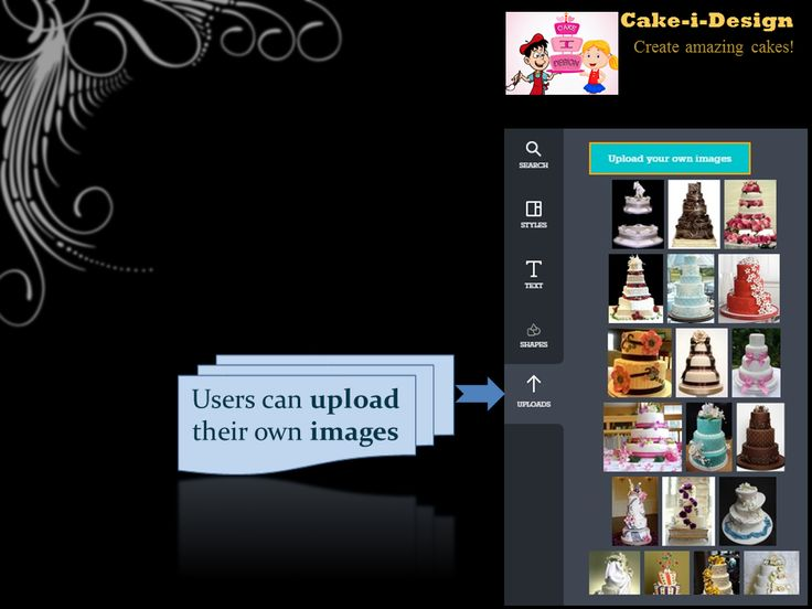 Let the users upload their own designs of cakes!