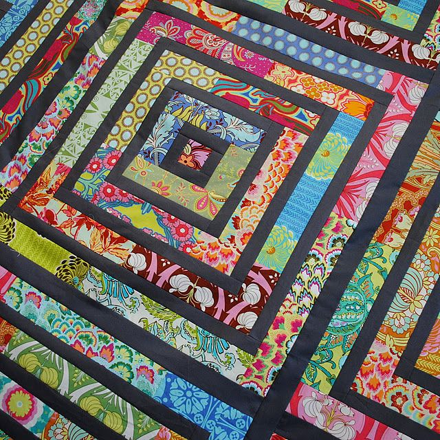 Amy Butler fabric jelly roll quilt, now I know what to do with my fabrics!: