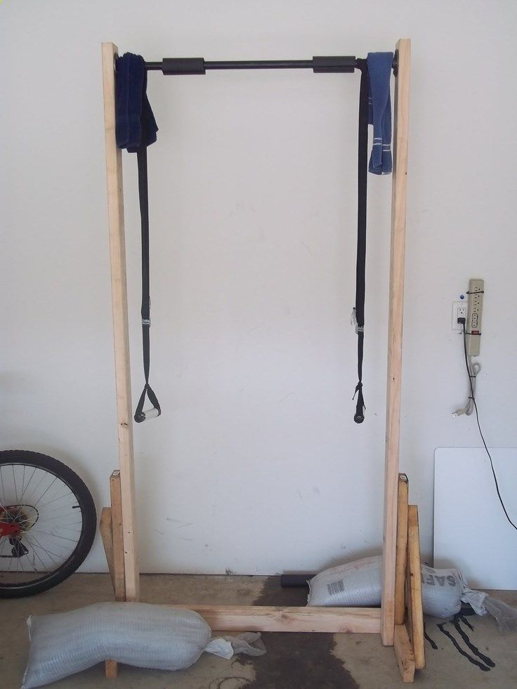 beyond the 5k make pullup bar from 2x4s diy workout stuff pinterest bar free and gym