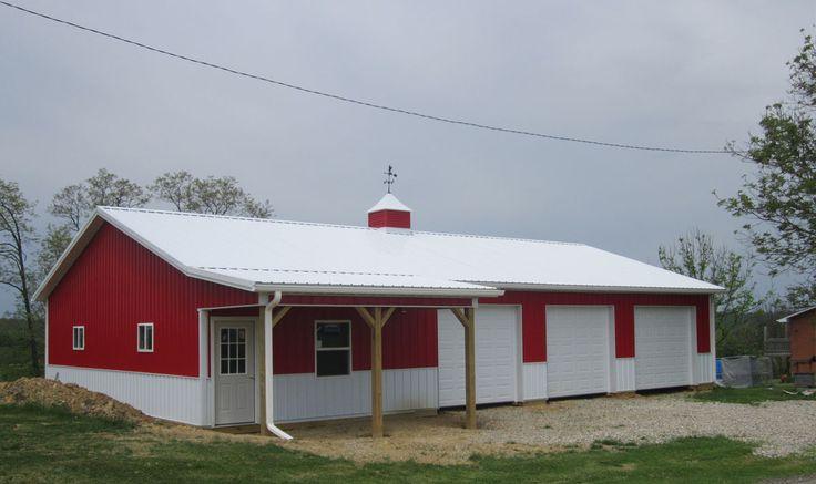 53 best garage plans images on pinterest garage plans for Residential pole barn kits