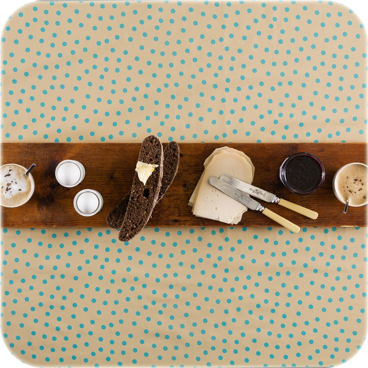zeil 1,20x2m beige met lichtblauwe stippen MixMamas, luiertassen, tafelzeil, Slaanse schoenen, bonfim gelukslint