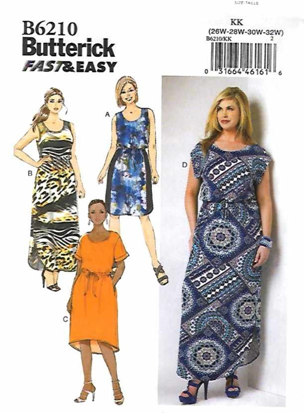 plus dress patterns easy