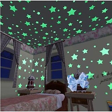 100PCS/Set  Luminous Stars Wall Stickers Art Decals(3cm) – CAD $ 5.55