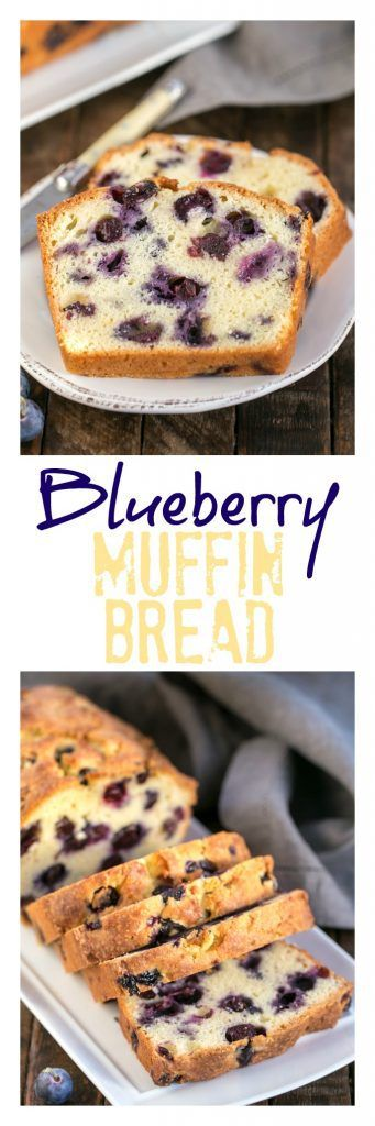 Lemon Blueberry Muffin Bread   A moist, dense, delicious quick bread that tastes like a blueberry muffin! #blueberries #quickbread #muffins