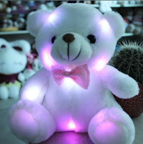 20cm Hot Cute wholesale New Large Luminous Teddy Bear Doll Bear Hug Colorful Flash Light,Led Plush toy birthday gift #>=#>=#>=#>=#> Click on the pin to check out discount price, color, size, shipping, etc. Save and like it!