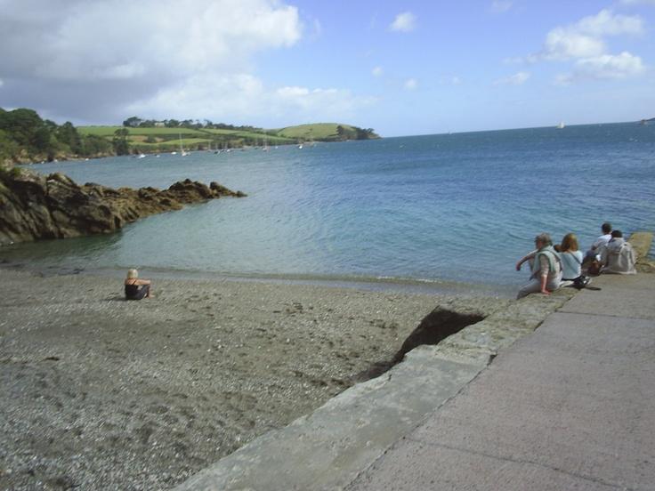 BEACH AT BOTTOM OF GARDEN,TREBAH,Cornwall
