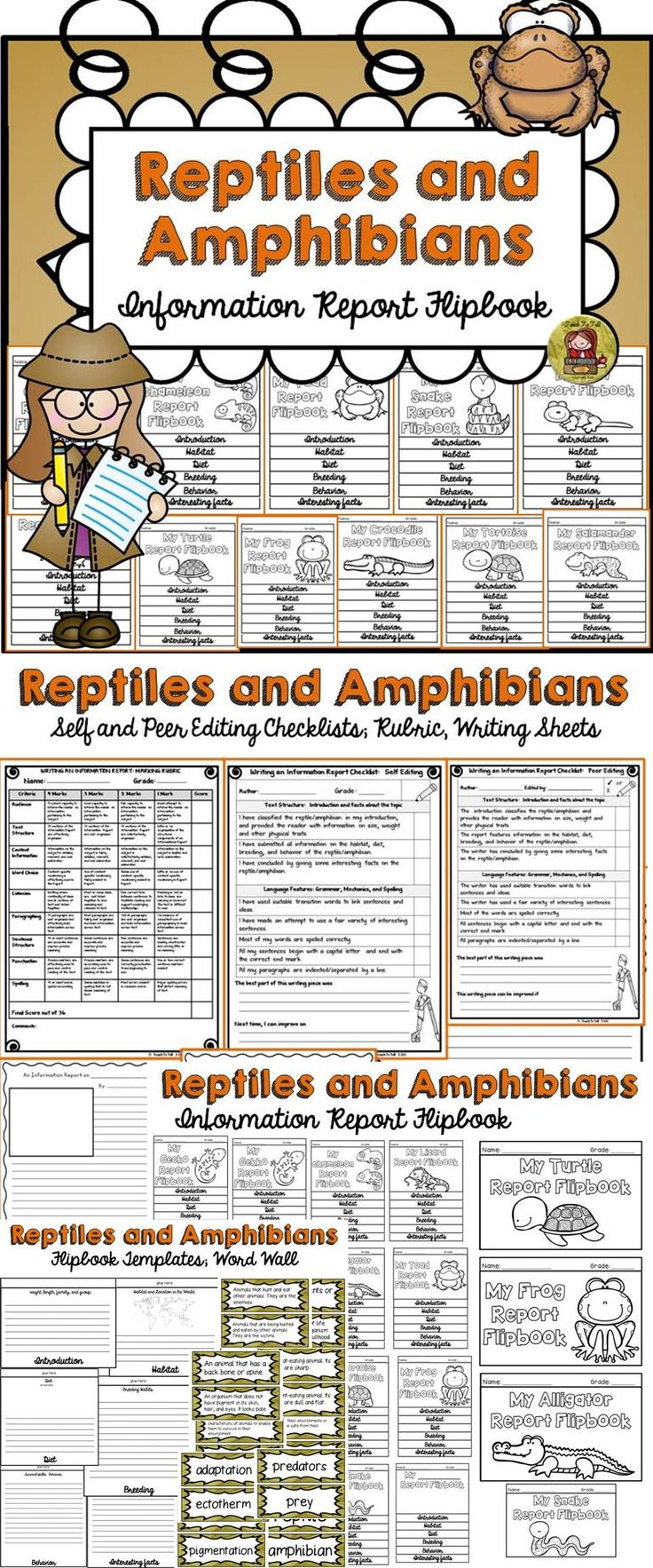 use this flipbook to scaffold the writing of an information report on amphibians or reptiles. Black Bedroom Furniture Sets. Home Design Ideas