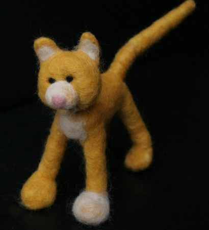 Tutorial on needle felted cat and dog