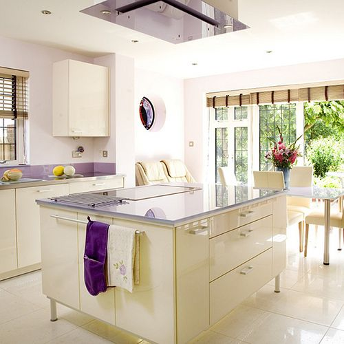 White Modern Kitchen via House to Home
