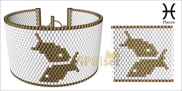 Beaded Bracelet Zodiac. Tutorial. Pattern12