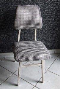 /fotelik czarno-biały/ /lata 60/ /www.pracownia-lili.pl/