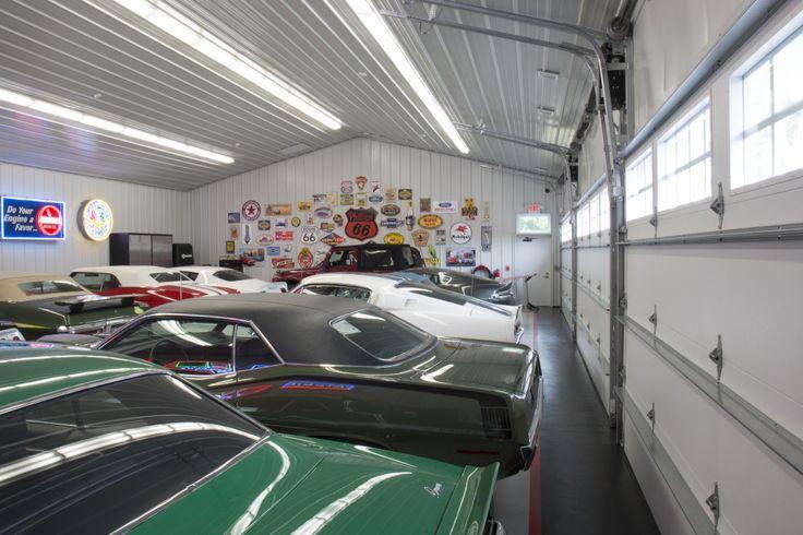 Morton Buildings hobby garage interior in East Hampton