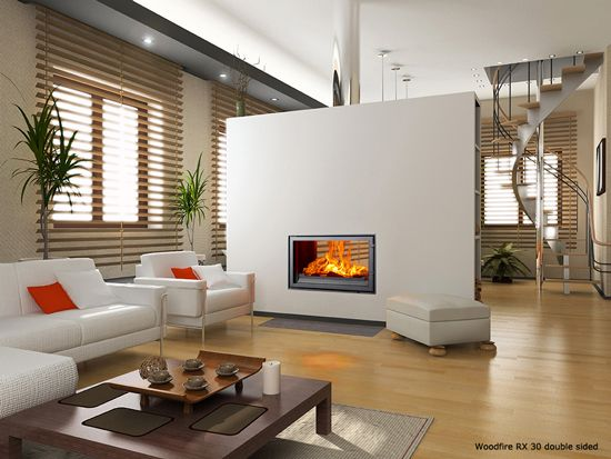 Woodfire RX30 double sided wood burning stove
