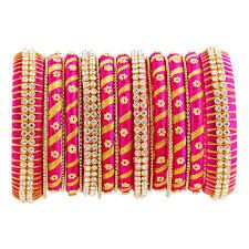 Image result for silk thread bangles