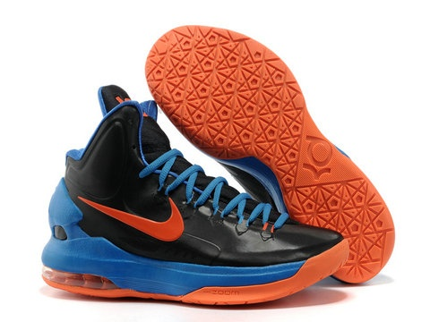 Nike Zoom KD 5 OKC Away,Style code:554988-048,comes in a black upper with  total orange hue on the KD logo, Nike swoosh, visible air max cushioning  and ...