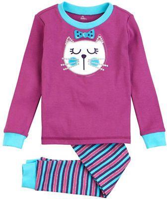 Petit Lem Emoji Cat 2 Piece Top and Pajama Pants Set