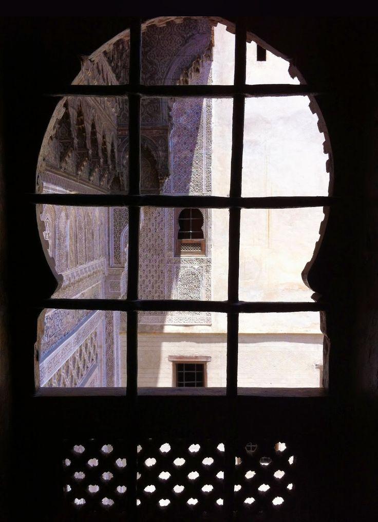 framed window view, fes, morocco, craft museum interior, photo by wardululu alsaffar
