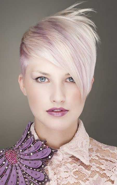 Violet blonde hair - delicate pastel tones like this add more interest to blonde hair...