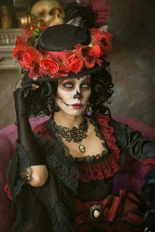 ♥ #hat & Dia de Los Muertos #makeup