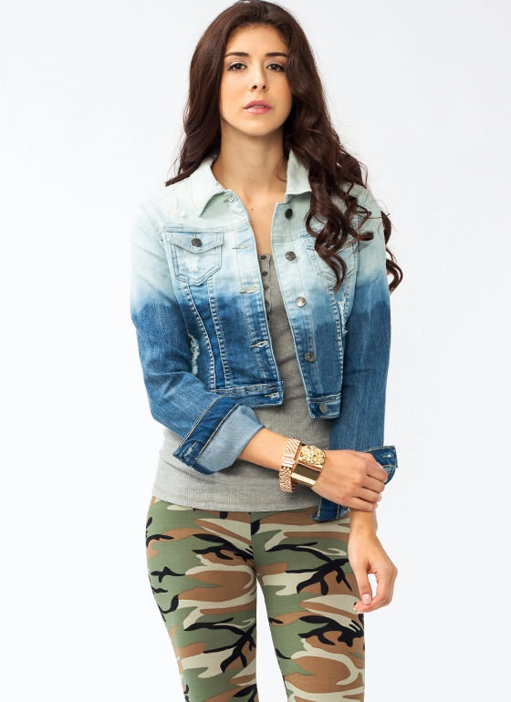 We've decided that everything looks better dip-dyed, so naturally, we're totally obsessing over this denim jacket.