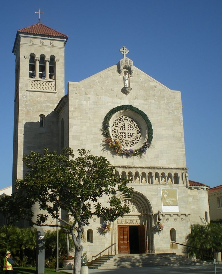 St Monica's Santa Monica California - awwww yay!! Someone pinned my church!!