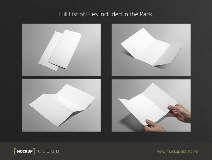 Tri-fold Brochure Mock-Up by Mockup Cloud on @creativemarket