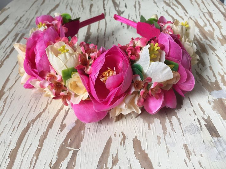 Loving Life Flower Crown Headband by SunshinePieCreations on Etsy https://www.etsy.com/listing/258991607/loving-life-flower-crown-headband