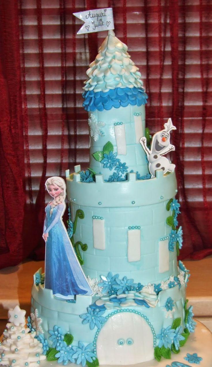 I miei hobby: Frozen Castle Cake.