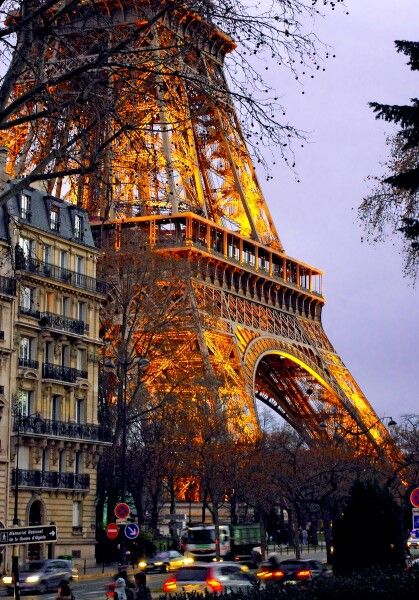 Eiffel Tower from Quai Branly by French Moments