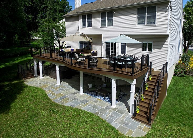 This Project Is A Prime Example Of Maximizing Usable Space To Get The Most Out O Patio Design Patio Builders Deck Designs Backyard