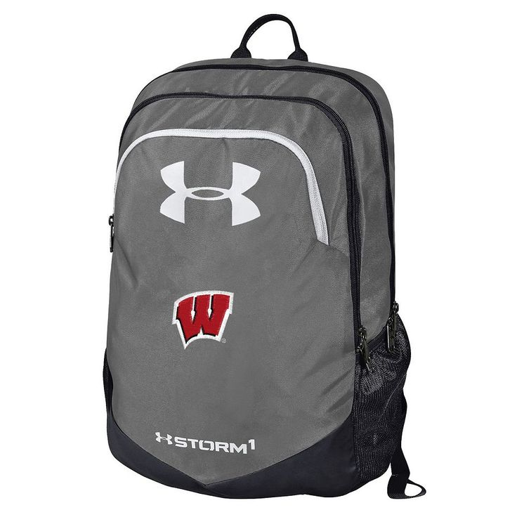 Under Armour Wisconsin Badgers Storm Scrimmage Backpack, Grey