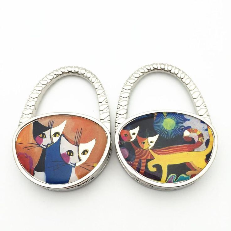100 Pcs/lot Cat New Handbag Hook/ Zinc Alloy Crafts Boutique Wholesale Bag  Hanger/ Foldable Bag Hook Holder Restaurant Luggage