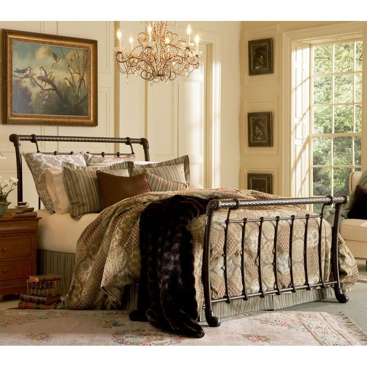 fbgu0027s legion iron bed in ancient gold by humble abode the beautiful sleigh iron bed iron