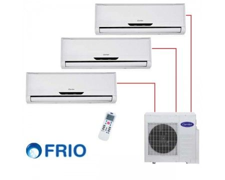 Ar Condicionado 36.000 BTU/h (3x 12.000) CARRIER MULTI-SPLIT FRIO 220V