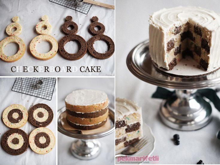 .. Dama desenli kek nasıl yapılır?..