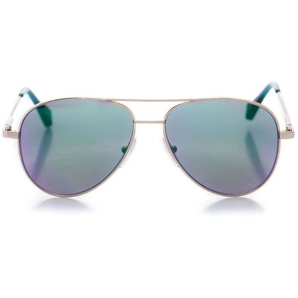 Cutler and Gross (30.860 RUB) ❤ liked on Polyvore featuring accessories, eyewear, sunglasses, aviator sunglasses, cutler and gross, mirrored glasses, lens glasses and cutler and gross sunglasses