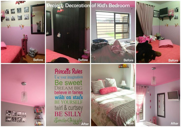Girls room - redecorating and painting