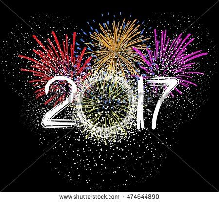 Fireworks for happy new year 2017