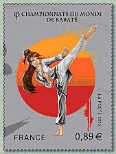 Timbre Championnats_Karate_femme_2012