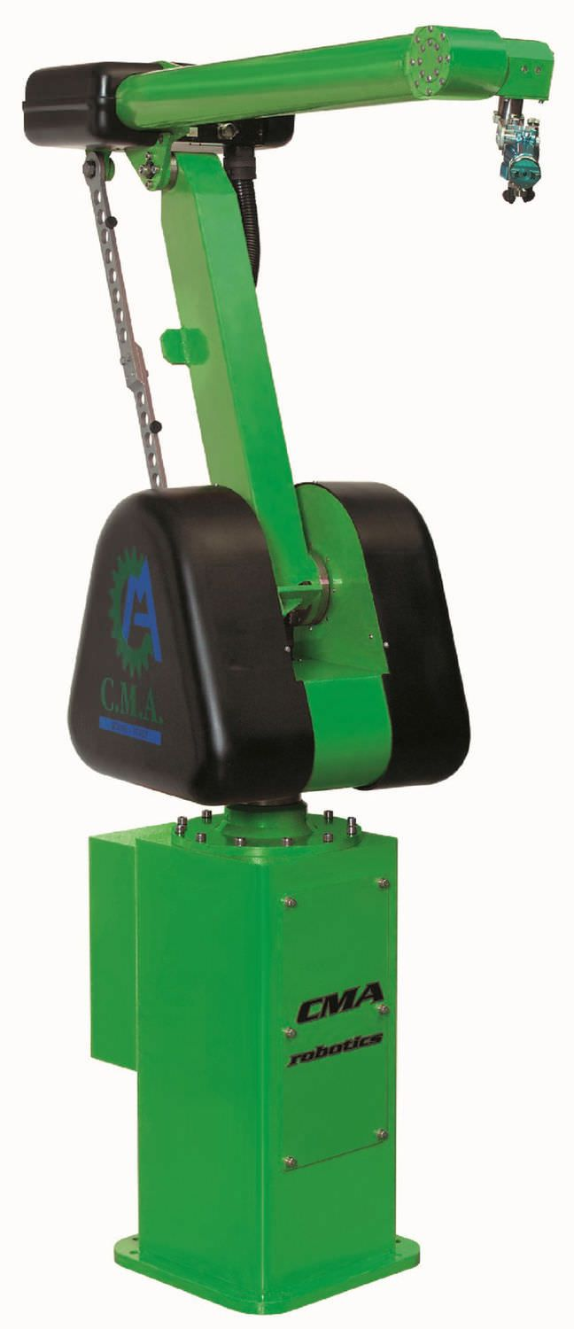 5 axis self-learning articulated painting robot by CMA Robotics. #Industrial machines and equipment on #DirectIndustry