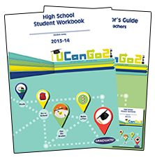FREE High School and Middle School Student Workbooks and Instructor Guides about college and career planning/goals