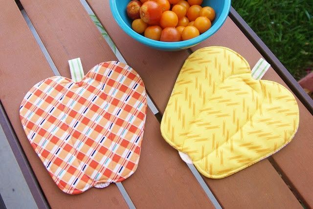 Shaped Hot Pads! Would Be Cute As Strawberries, Cherries, etc!
