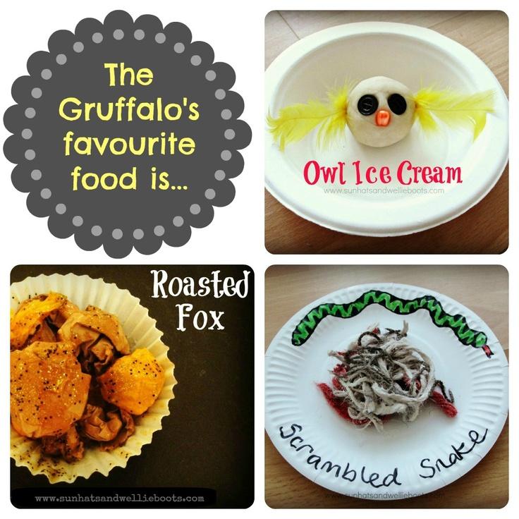Exploring the Gruffalo's favourite food... Owl Ice Cream, Roasted Fox, Scrambled Snake